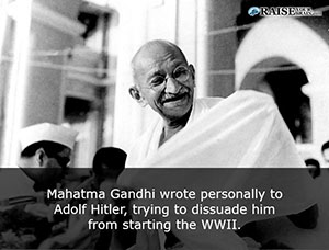 Mahatma Gandhi Wrote Personally To Adolf Trying To Dissuade Him From Starting The Wwii Tweet This
